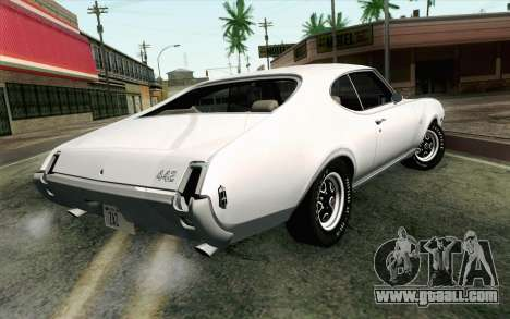 Oldsmobile 442 Holiday Coupe 1969 IVF АПП for GTA San Andreas left view