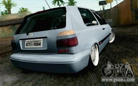 Volkswagen Golf Mk3 Eurolook for GTA San Andreas left view