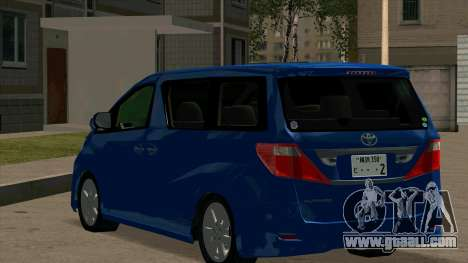 Toyota Alphard 350G for GTA San Andreas back left view