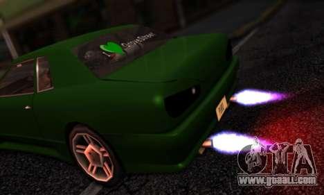 Elegy I Love GS v1.0 for GTA San Andreas back view