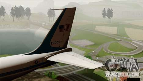 Boeing VC-137 for GTA San Andreas back left view