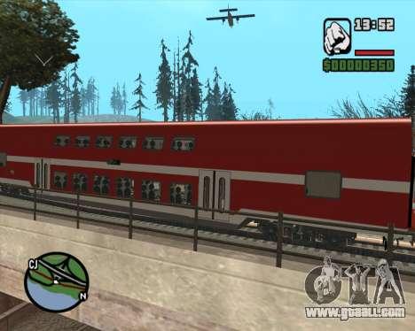 Israeli Train Double Deck Coach for GTA San Andreas back left view