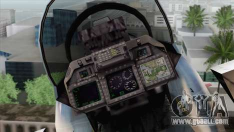 F-15E Artic Blue for GTA San Andreas back view