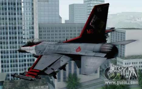 F-16 15th Fighter Squadron Windhover for GTA San Andreas left view