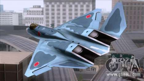 YF-23 JASDF for GTA San Andreas left view