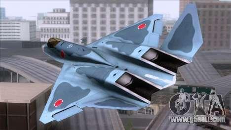 YF-23 JASDF for GTA San Andreas left view