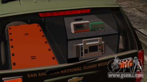 Chevrolet Suburban National Guard MedEvac for GTA San Andreas back view