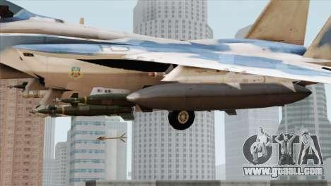 F-15E Artic Blue for GTA San Andreas right view