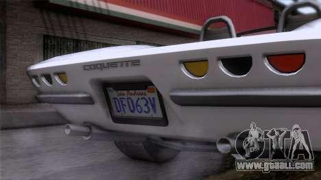 GTA 5 Invetero Coquette Classic TL for GTA San Andreas back view