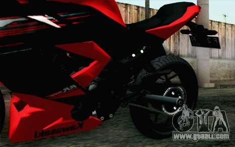 Kawasaki Ninja 250RR Mono Red for GTA San Andreas right view