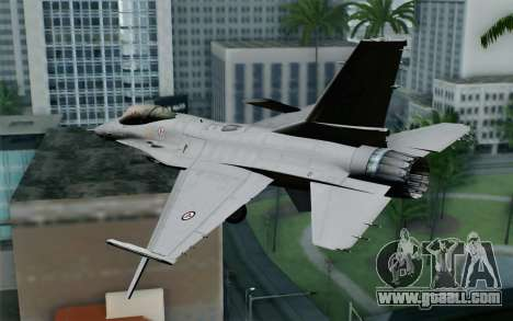 F-16 Fighting Falcon RNoAF for GTA San Andreas left view