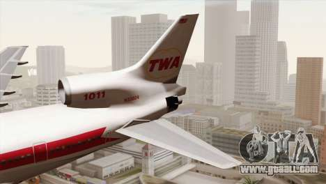 Lookheed L-1011 TWA for GTA San Andreas back left view