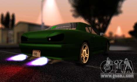 Elegy I Love GS v1.0 for GTA San Andreas back left view