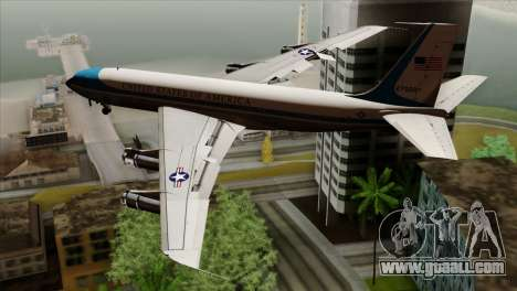 Boeing VC-137 for GTA San Andreas left view