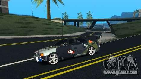 Toyota Chaser Tourer V Fail Crew for GTA San Andreas left view