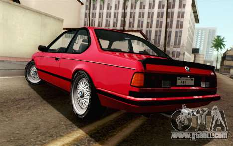 BMW M635CSI E24 1986 V1.0 for GTA San Andreas left view