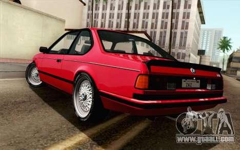 BMW M635CSI E24 1986 V1.0 for GTA San Andreas left view