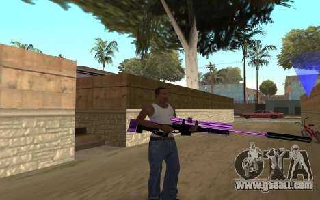 Purple Weapon Pack by Cr1meful for GTA San Andreas third screenshot