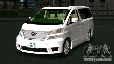 Toyota Vellfire for GTA San Andreas