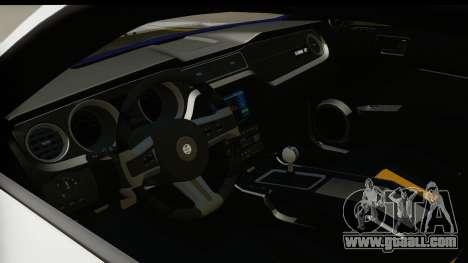 Ford Mustang 2010 Cobra Jet for GTA San Andreas inner view