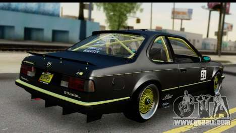 BMW M635 E24 CSi 1984 for GTA San Andreas left view