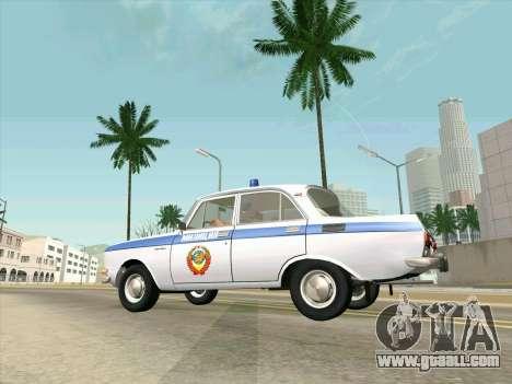 Moskvich 2140 Police for GTA San Andreas
