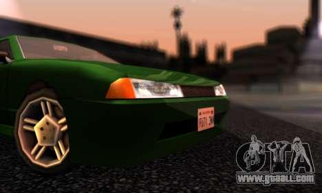 Elegy I Love GS v1.0 for GTA San Andreas left view