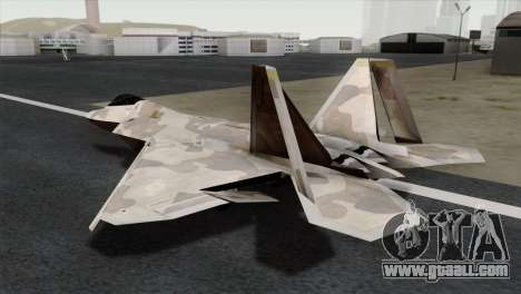 F-22 Raptor 02 for GTA San Andreas left view