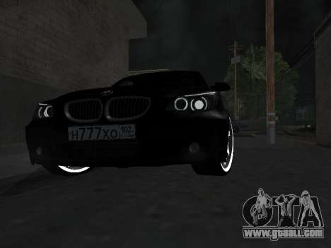 BMW 525i (e60) for GTA San Andreas inner view
