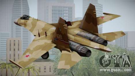 SU-27 Warwolf Squadron for GTA San Andreas left view
