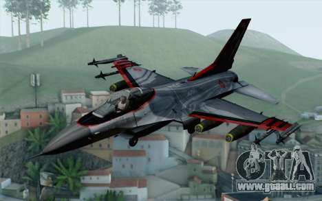 F-16 15th Fighter Squadron Windhover for GTA San Andreas