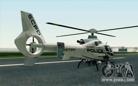 NFS HP 2010 Police Helicopter LVL 1 for GTA San Andreas left view