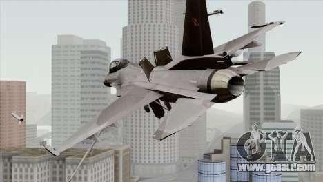 F-16C Block 52 for GTA San Andreas left view