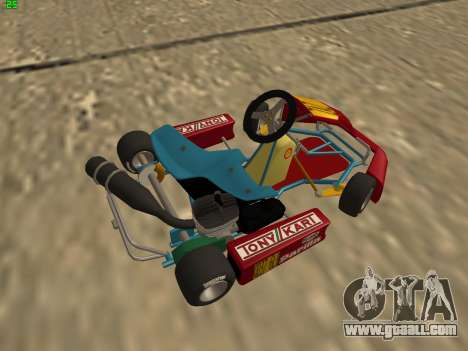 Kart per XiorXorn for GTA San Andreas back left view
