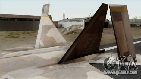 F-22 Raptor 02 for GTA San Andreas back left view