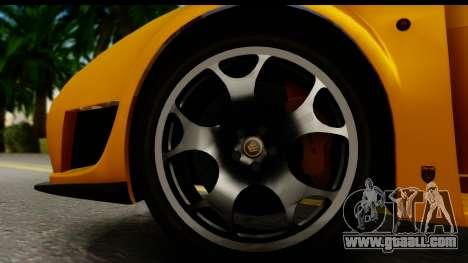 Noble M600 2010 HQLM for GTA San Andreas inner view