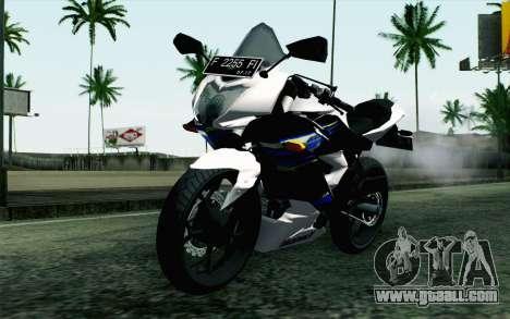 Kawasaki Ninja 250RR Mono White for GTA San Andreas
