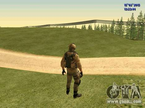 The policeman of the militia of Donbass for GTA San Andreas third screenshot