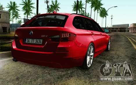 BMW 530d F11 Facelift IVF for GTA San Andreas back view