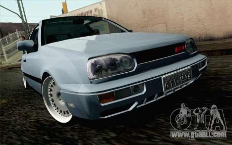 Volkswagen Golf Mk3 Eurolook for GTA San Andreas