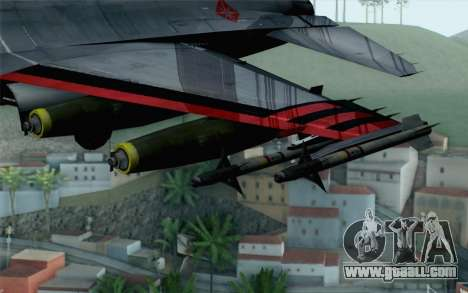 F-16 15th Fighter Squadron Windhover for GTA San Andreas right view