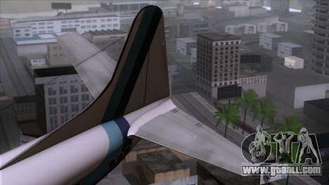 L-188 Electra Eastern Als for GTA San Andreas back left view