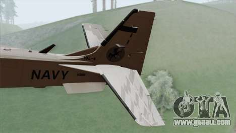 Embraer A-29B Super Tucano Navy White for GTA San Andreas back left view
