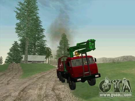 KamAZ 44108 Timber for GTA San Andreas back left view