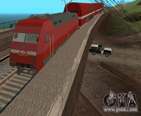 Israeli Train for GTA San Andreas back left view