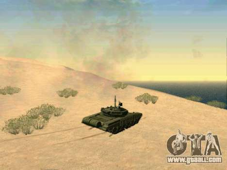Tank T-72B for GTA San Andreas inner view