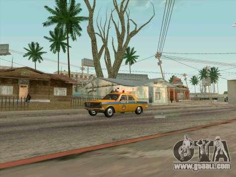 Volga 24-10 GAI for GTA San Andreas back left view