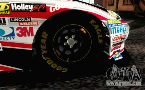 NASCAR Chevrolet Impala 2012 Plate Track for GTA San Andreas back left view