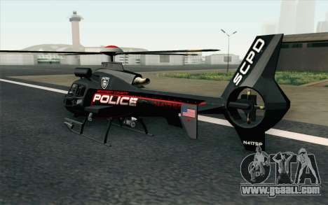 NFS HP 2010 Police Helicopter LVL 3 for GTA San Andreas left view