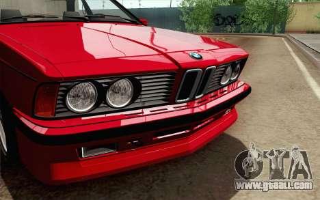 BMW M635CSI E24 1986 V1.0 for GTA San Andreas right view